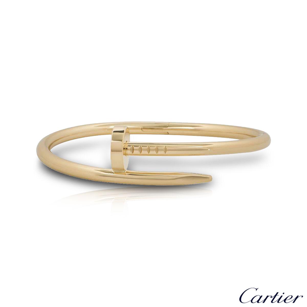 Cartier Yellow Gold Plain Juste Un Clou Bracelet Size 16 B6048216